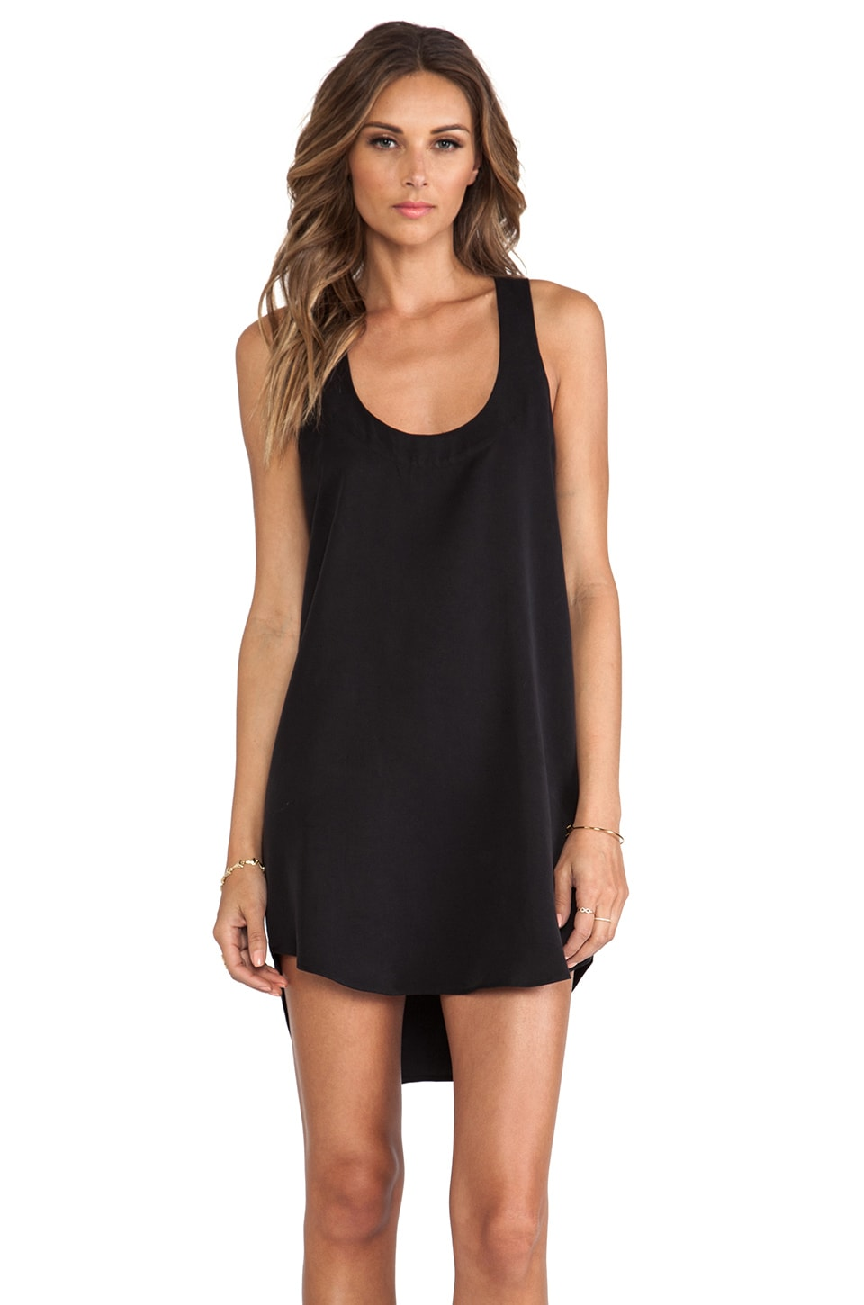 Michelle Mason Cut Out Shift Dress in Black