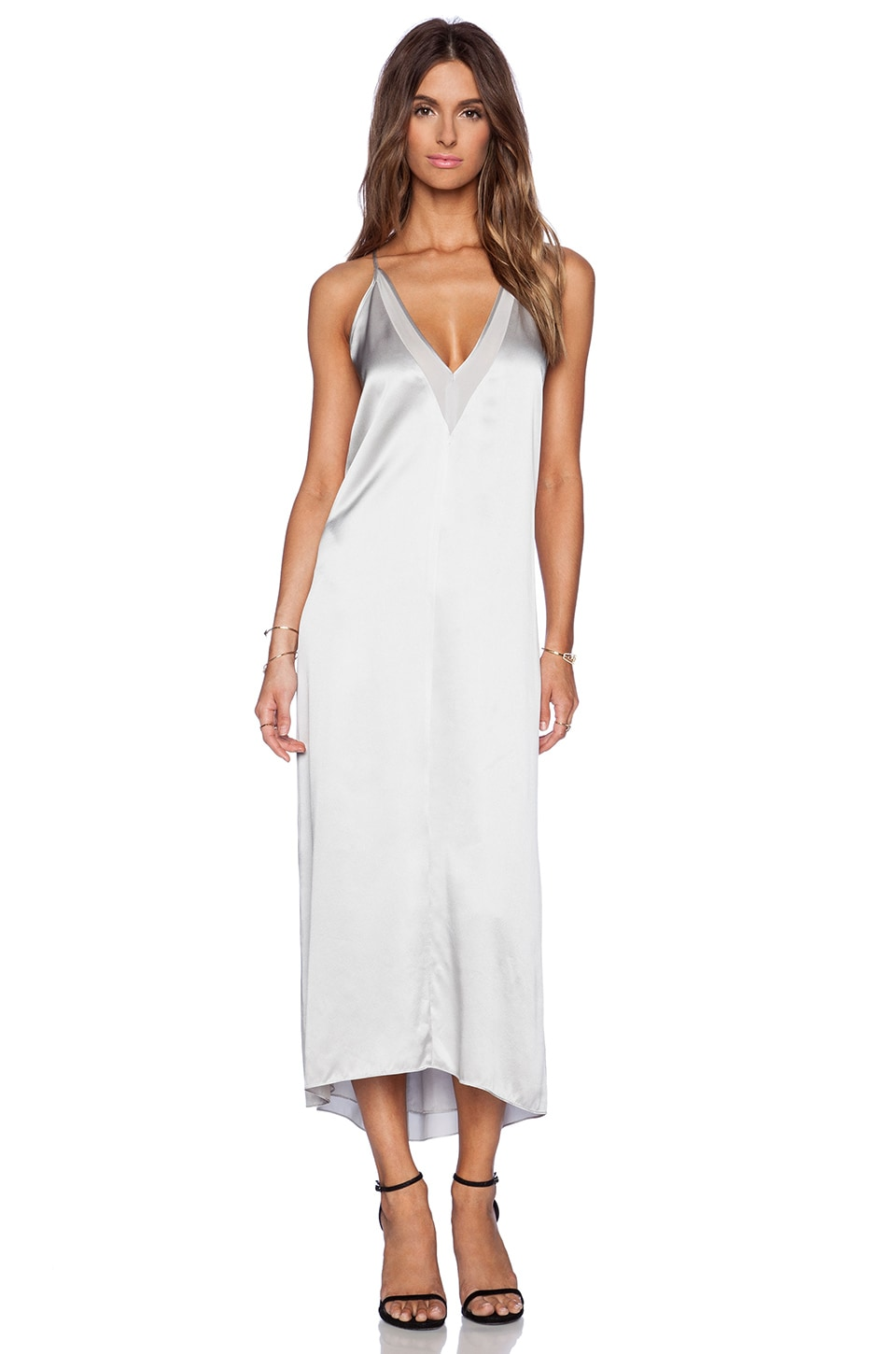 Michelle Mason Slip Maxi Dress in Ash  REVOLVE