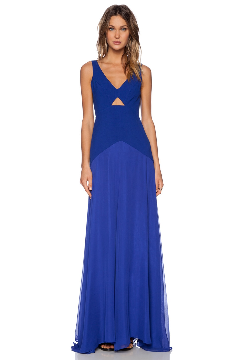 Michelle Mason Cut Out Gown in Royal