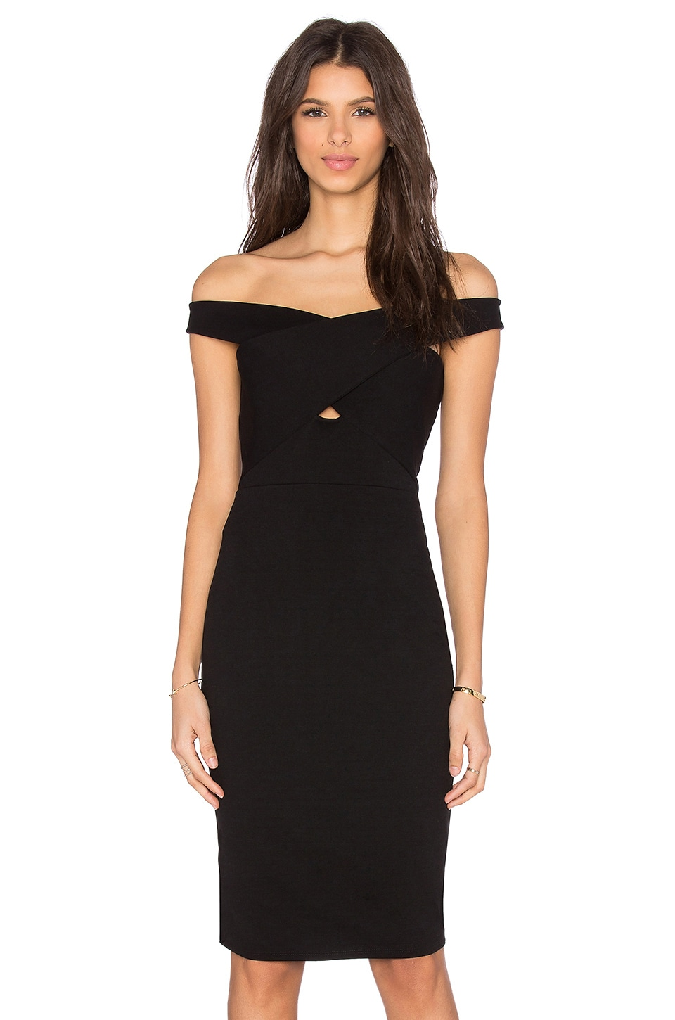 Michelle Mason CROSS STRAP DRESS