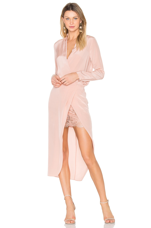 x REVOLVE Long sleeve Wrap Dress by Michelle Mason