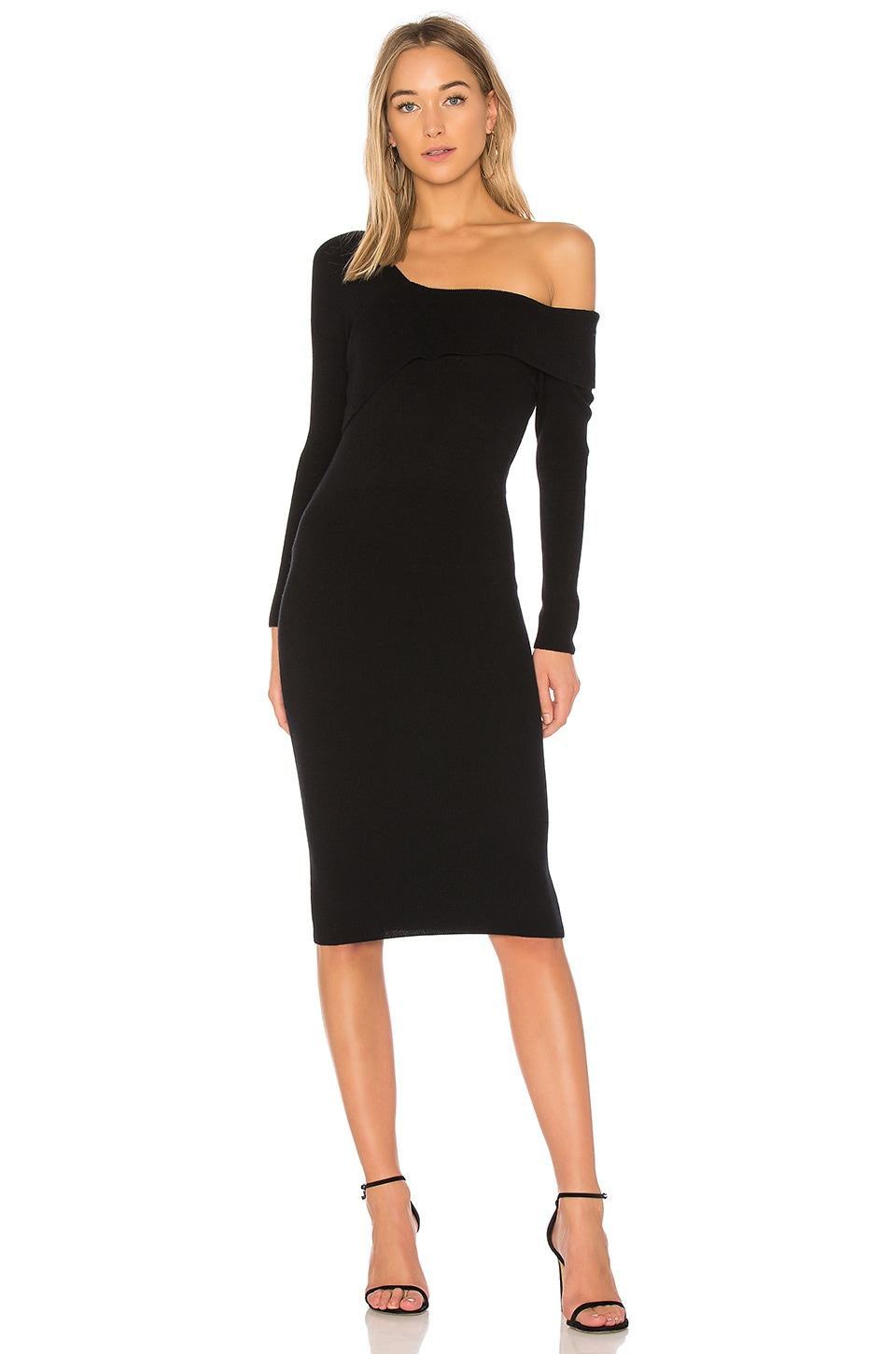 Asymmetrical Band Sweater Dress