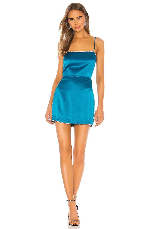 Michelle Mason Crystal Mini Dress in Lagoon