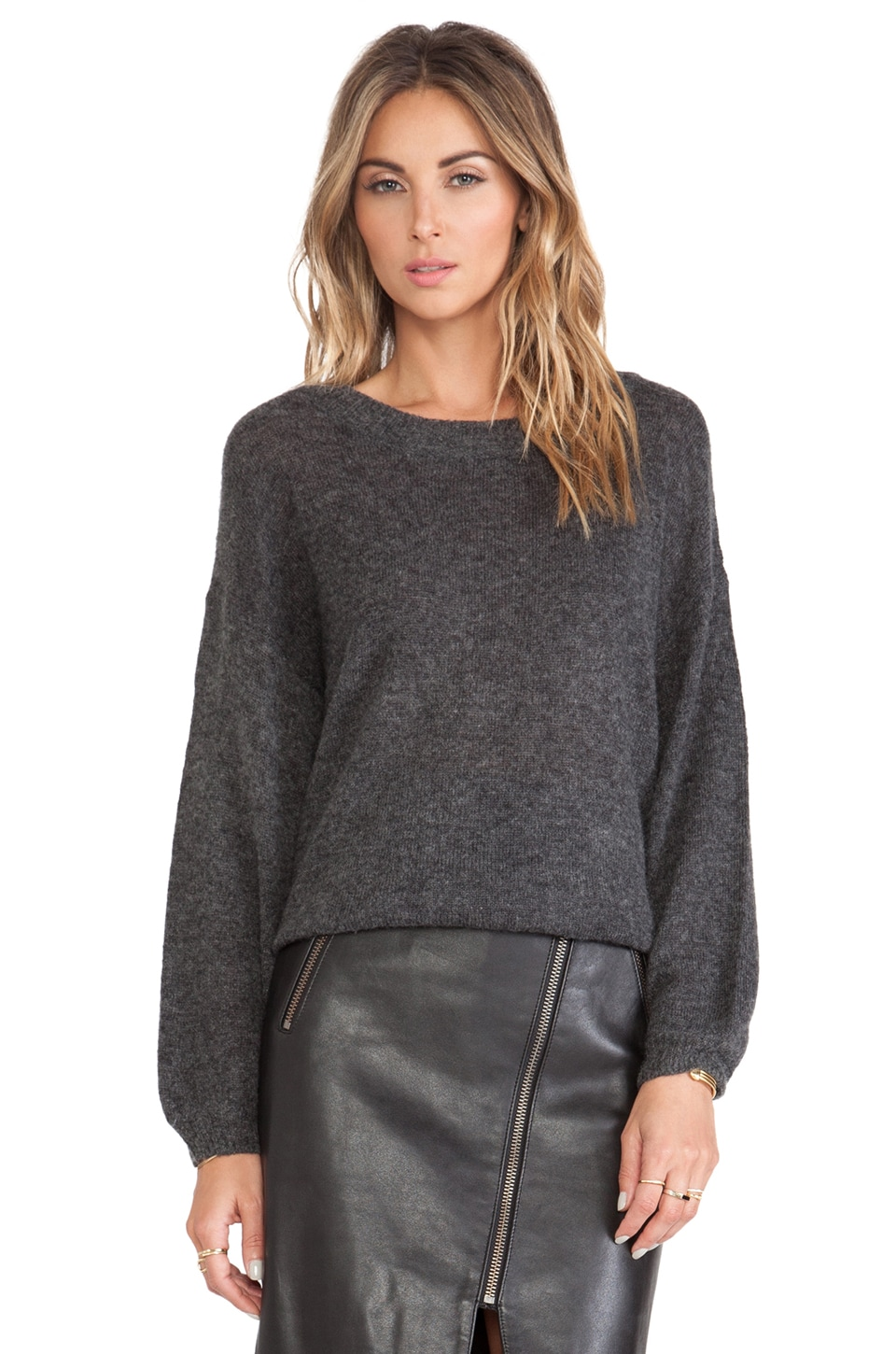 Michelle Mason Oversized Sweater in Charcoal