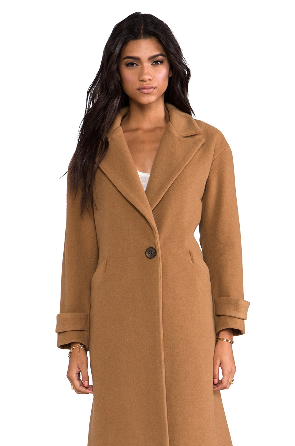Michelle Mason Oversized Maxi Coat in Camel