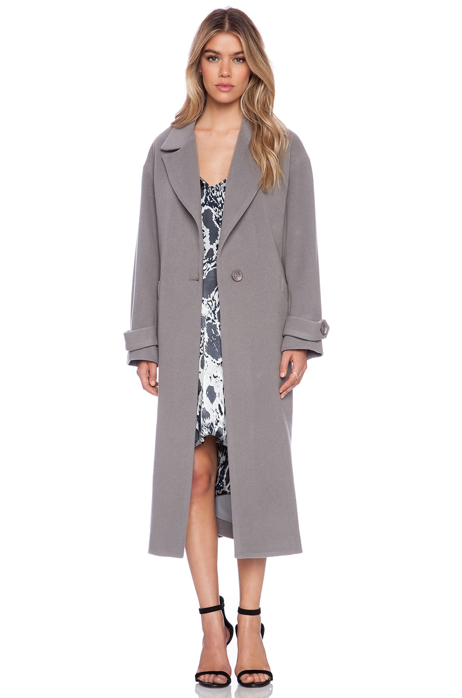 Michelle Mason Oversized Maxi Coat in Grey