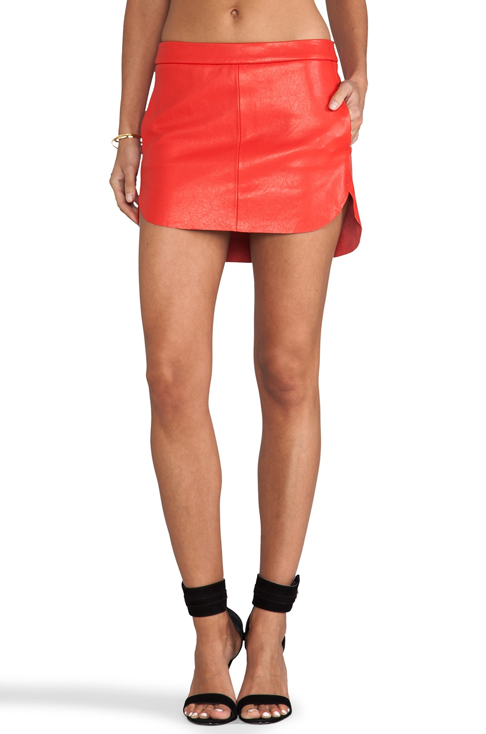 Michelle Mason Mini Skirt in Red