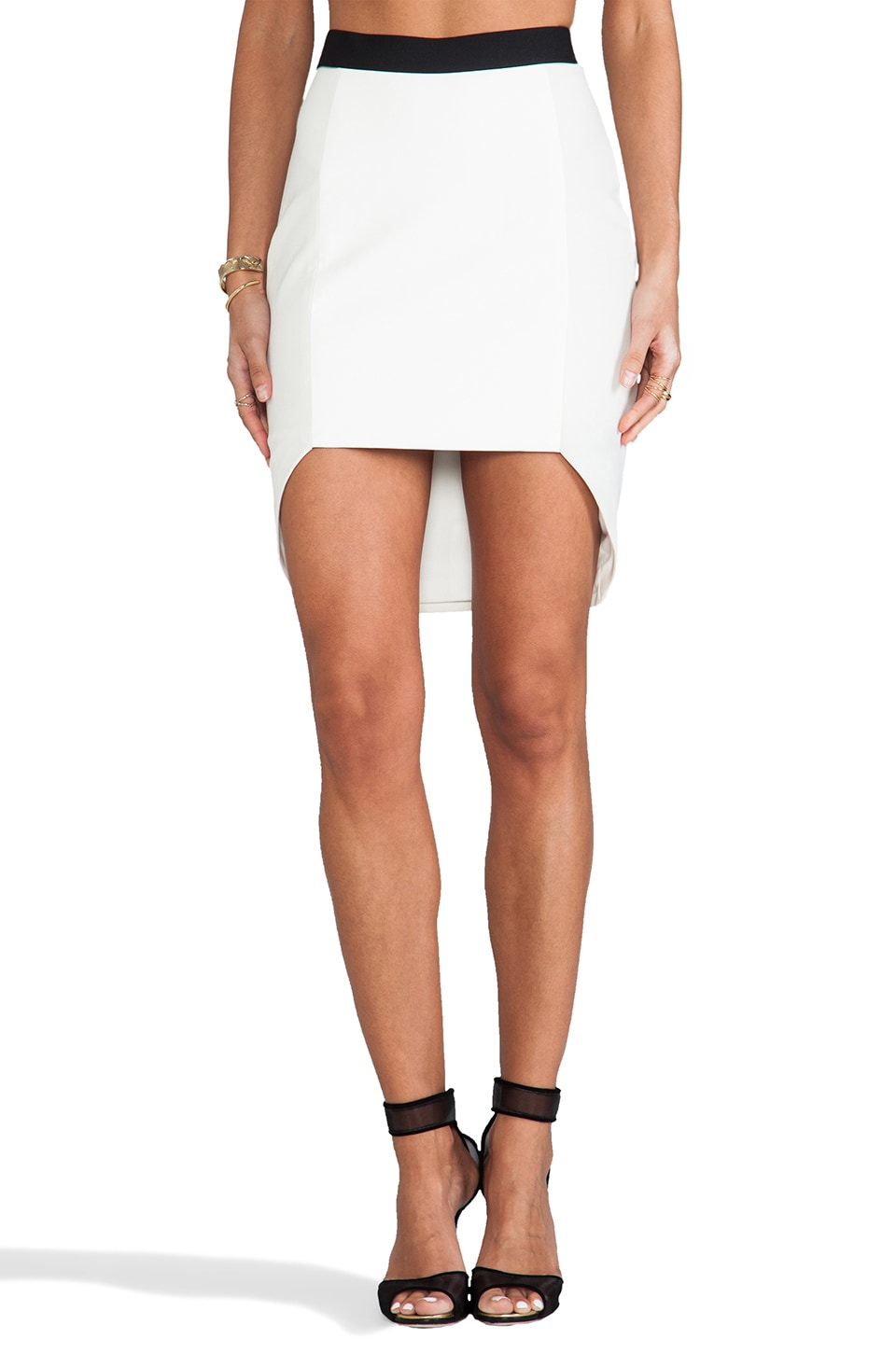Michelle Mason Geometric Skirt in Ivory