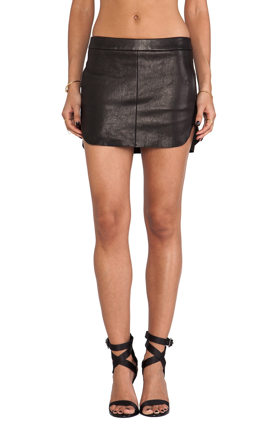 Michelle Mason Mini Skirt in Black