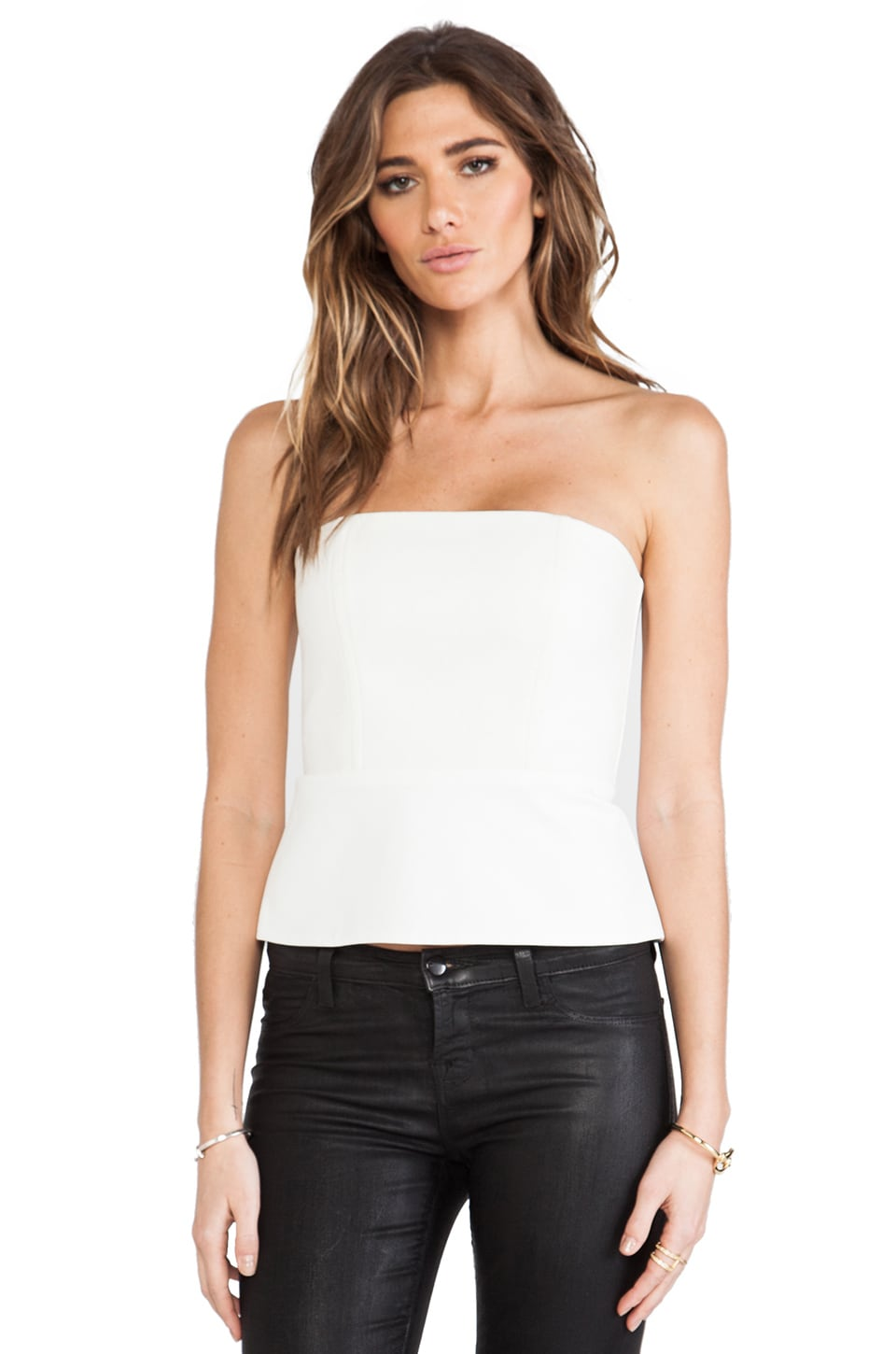 Michelle Mason Corset Top in Ivory