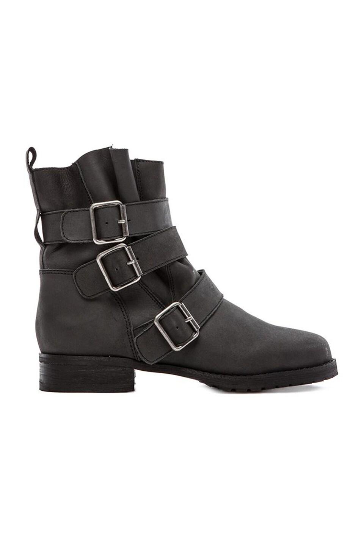 Matiko Charlie Moto Boot in Black Leather