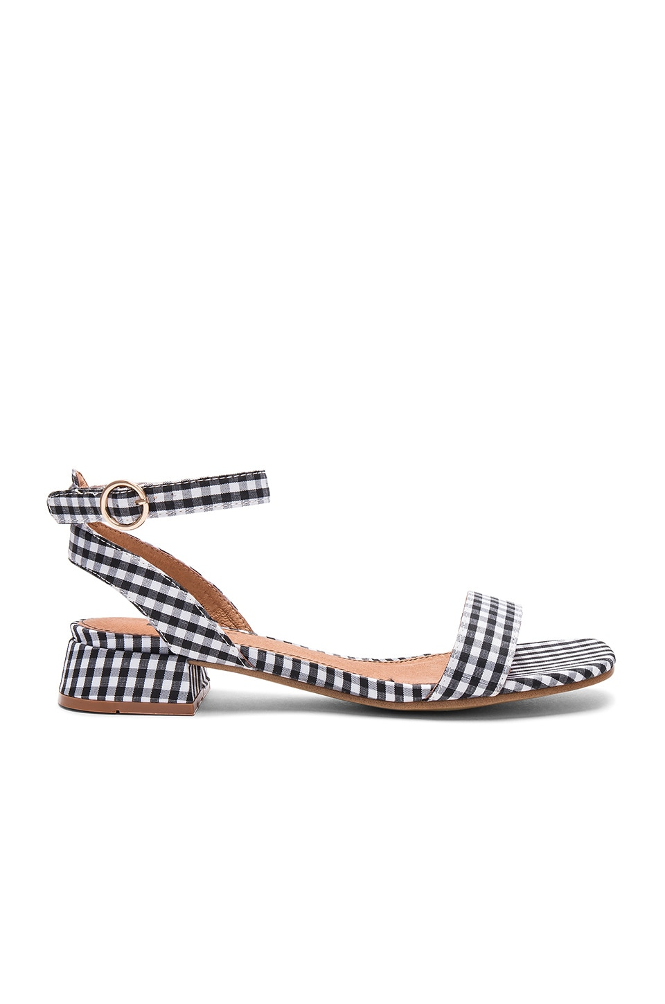 Matiko Raquela Sandal in Black & White Gingham