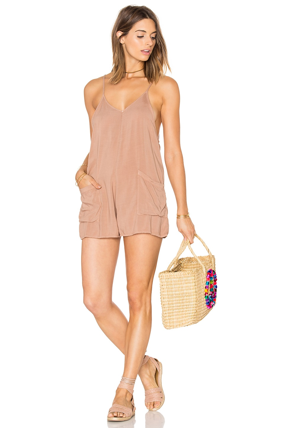 Mate The Label Riley Romper In Sand Revolve Roxy tee you're a daydream. usd