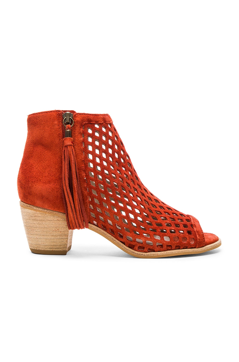 Matisse Indie Booties in Rust