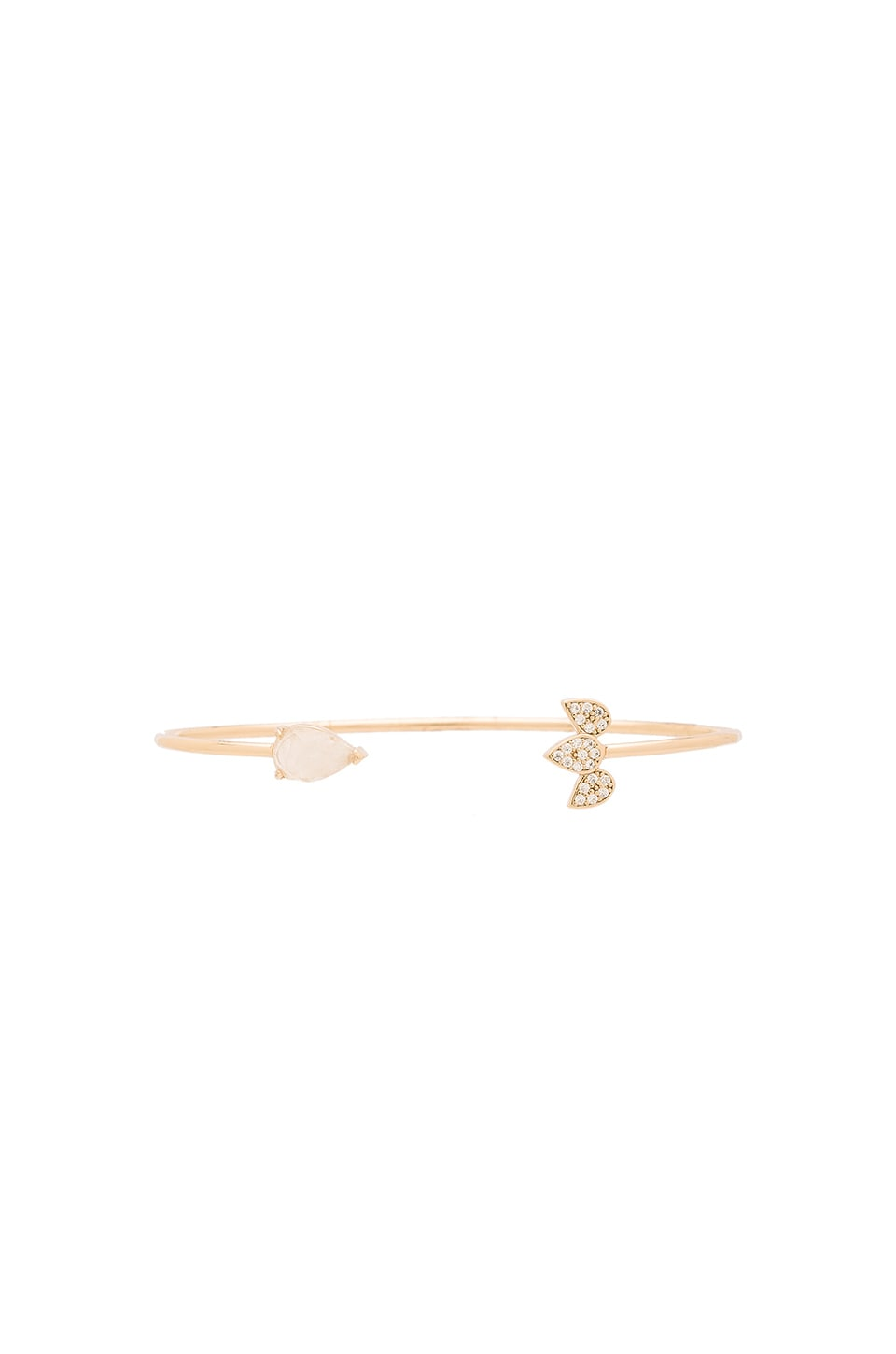 Melanie Auld Open Teardrop Cuff in Moonstone & Gold