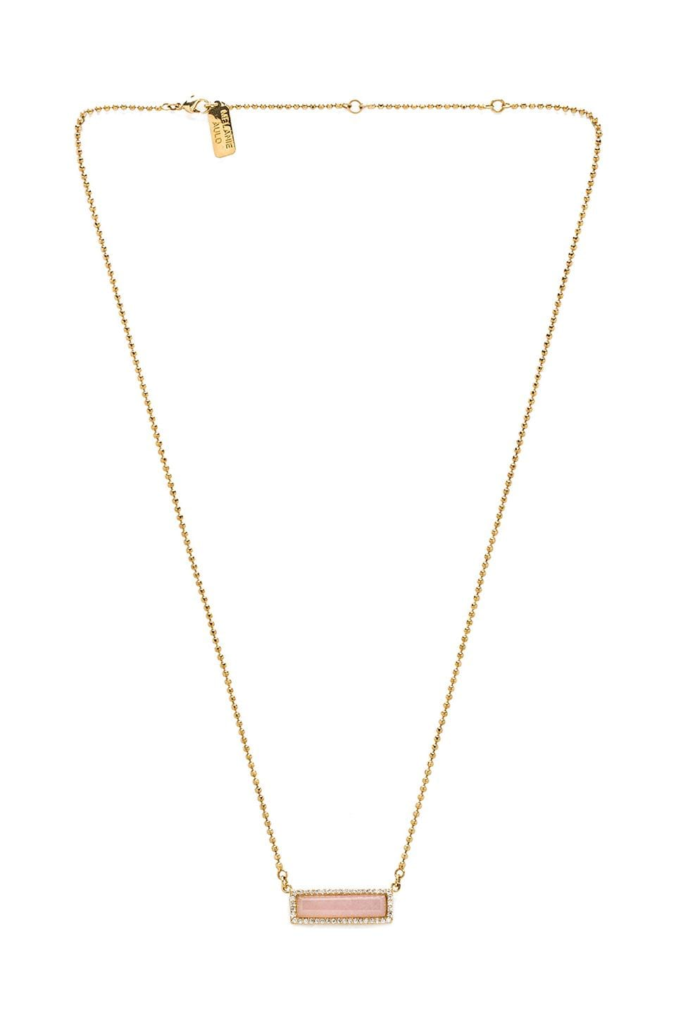 Melanie Auld Pave Bar Necklace in Pink Opal