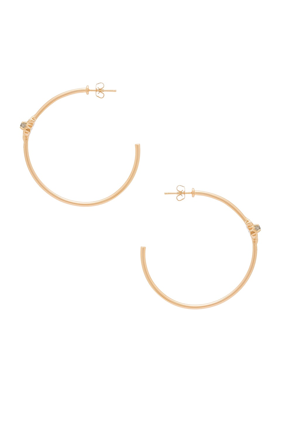 Melanie Auld Starburst Hoop Earrings in Labradorite & Gold
