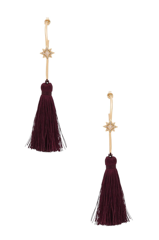 Melanie Auld x REVOLVE Starburst Hoop Earrings in Moonstone Gold & Wine