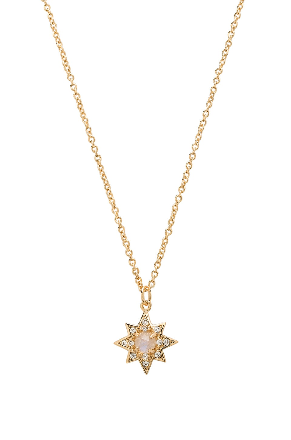 Melanie Auld Starburst Necklace in Moonstone & Gold