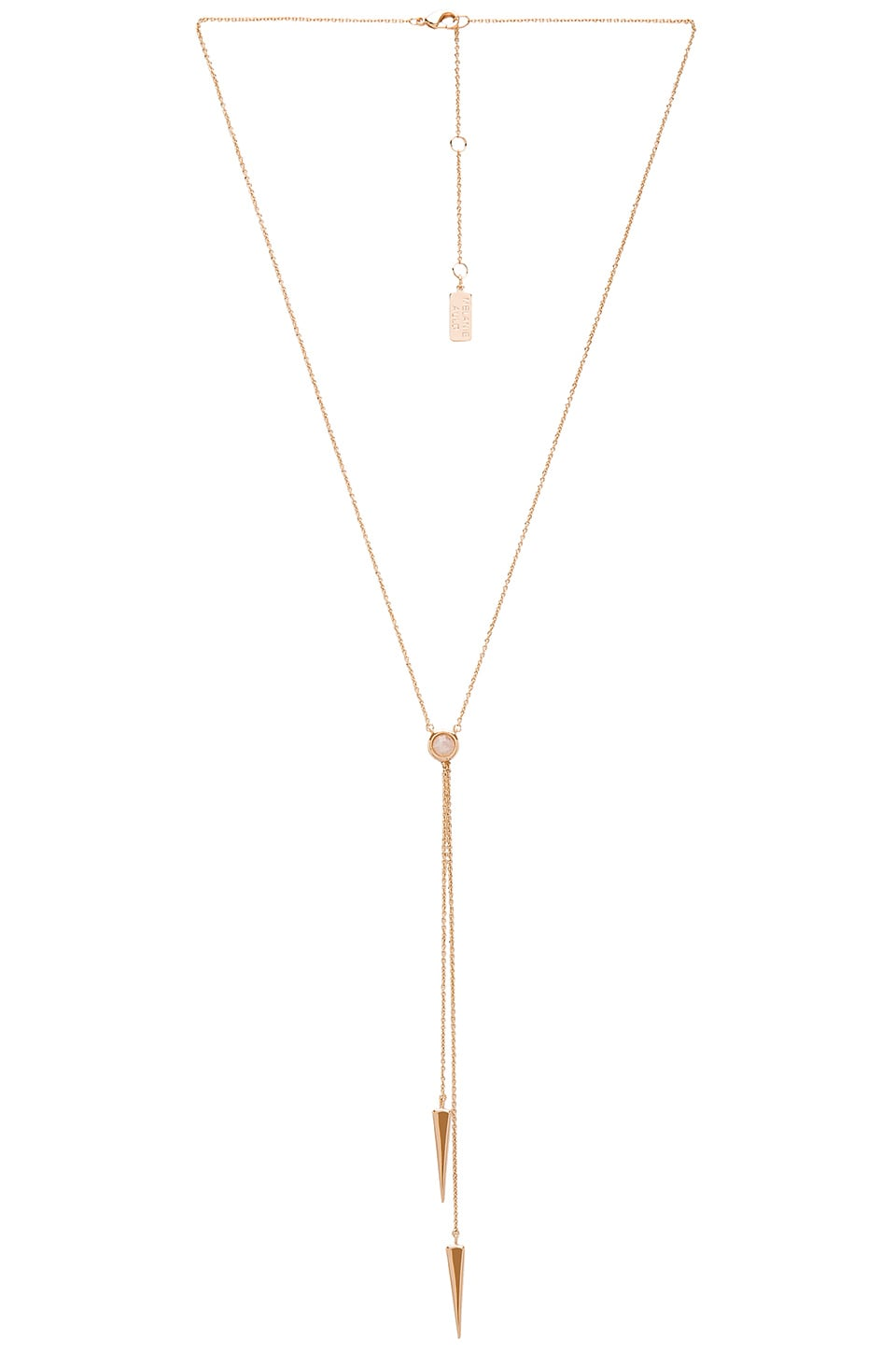 Melanie Auld Double Lariat in Moonstone & Gold
