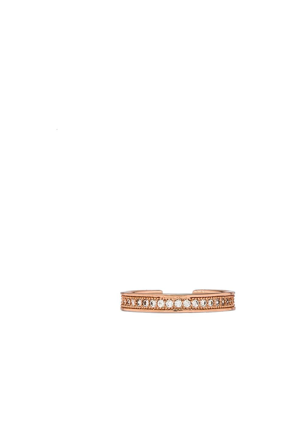 Melanie Auld Pave Knuckle Ring in Rose Gold