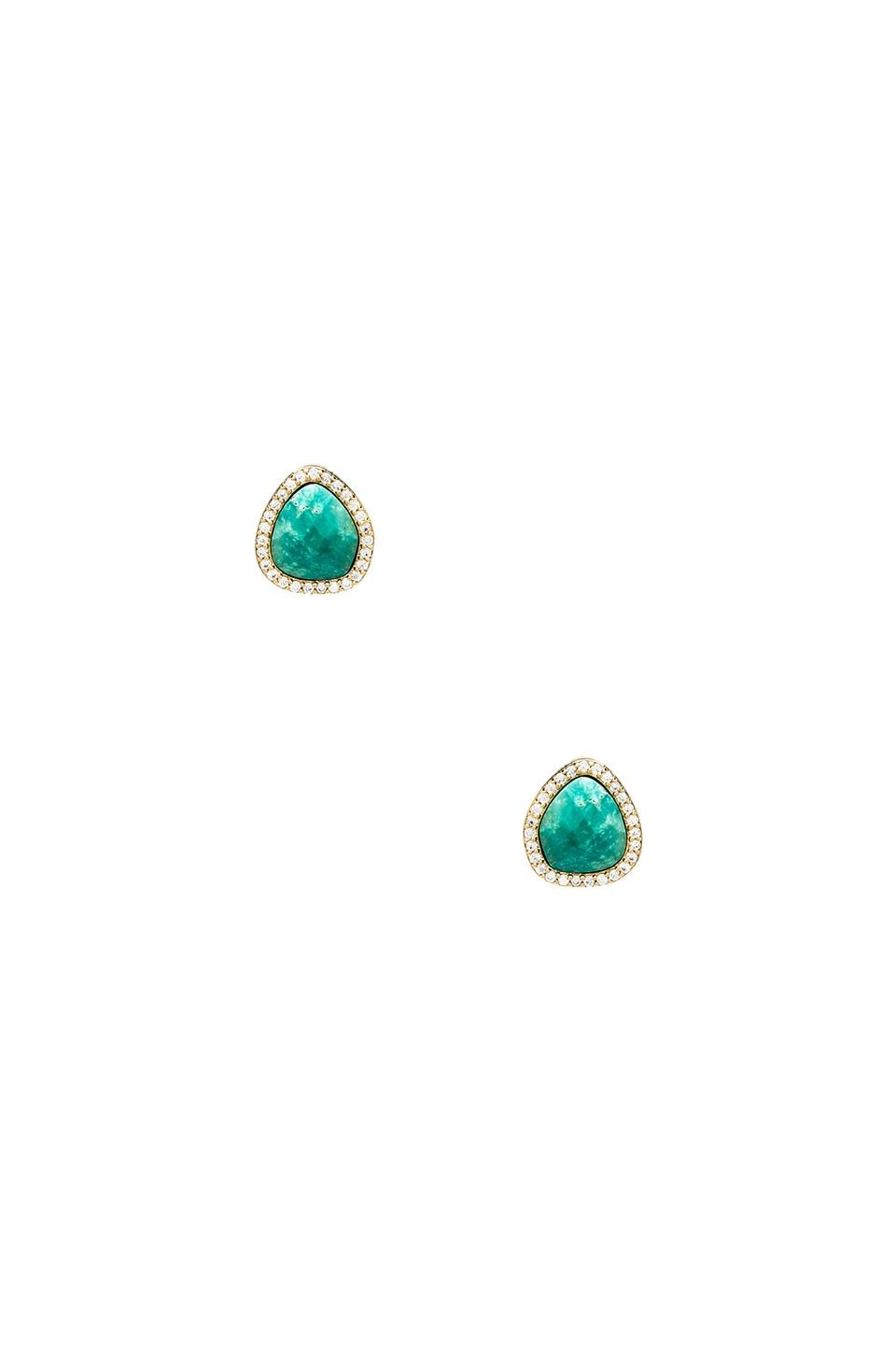 Melanie Auld Pave Stone Studs in Turquoise