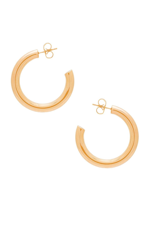 Melanie Auld Mini Modern Hoops in Gold