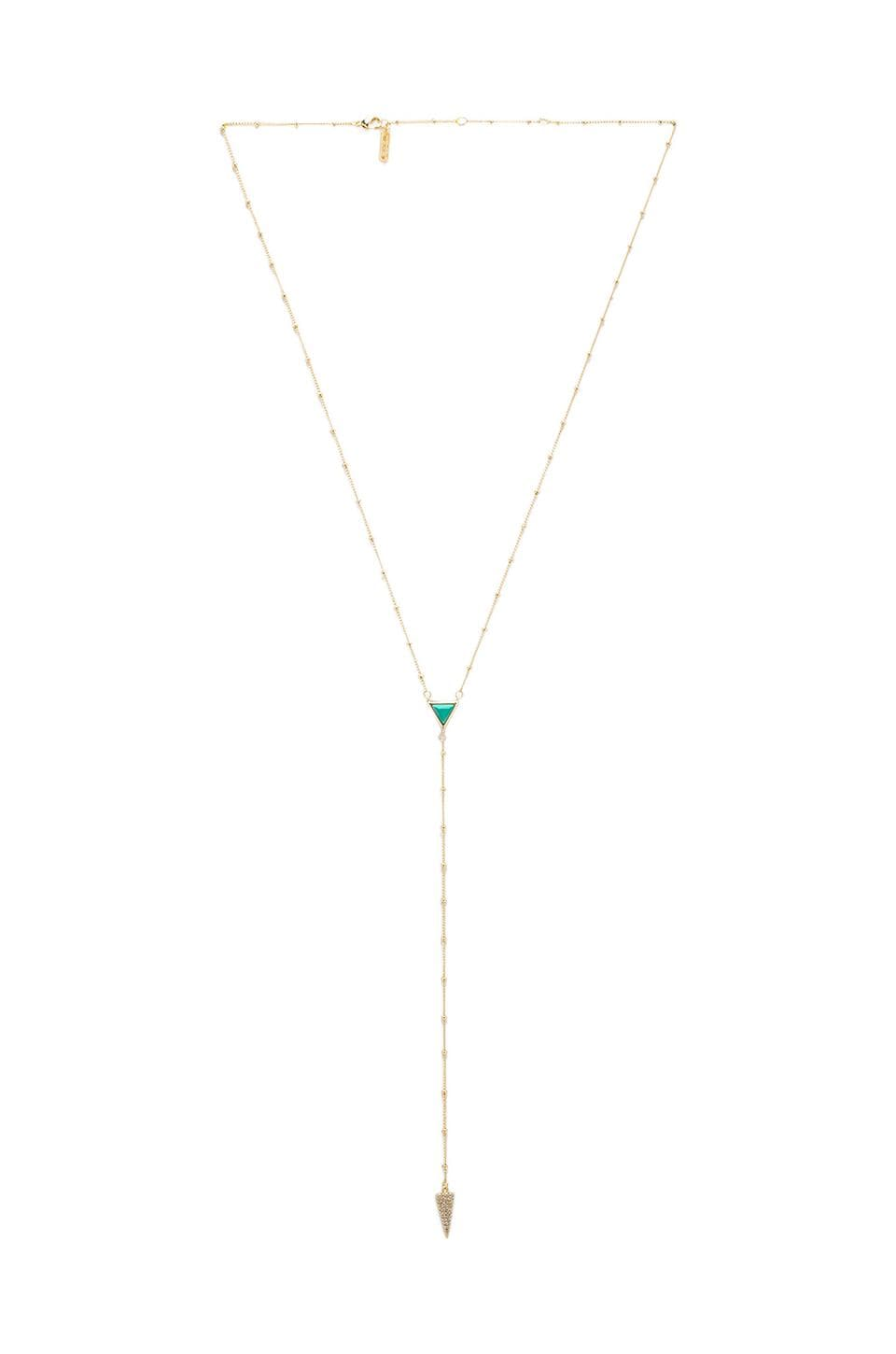 Melanie Auld Pave Lariat in Turquoise