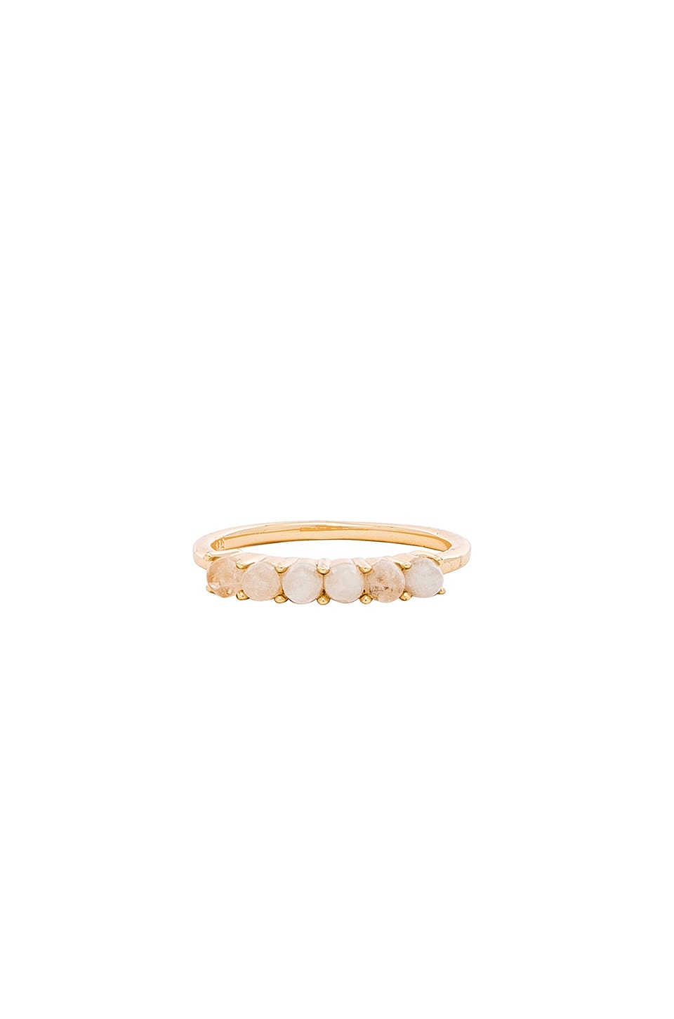 MELANIE AULD Stone Band Ring in Metallic Gold