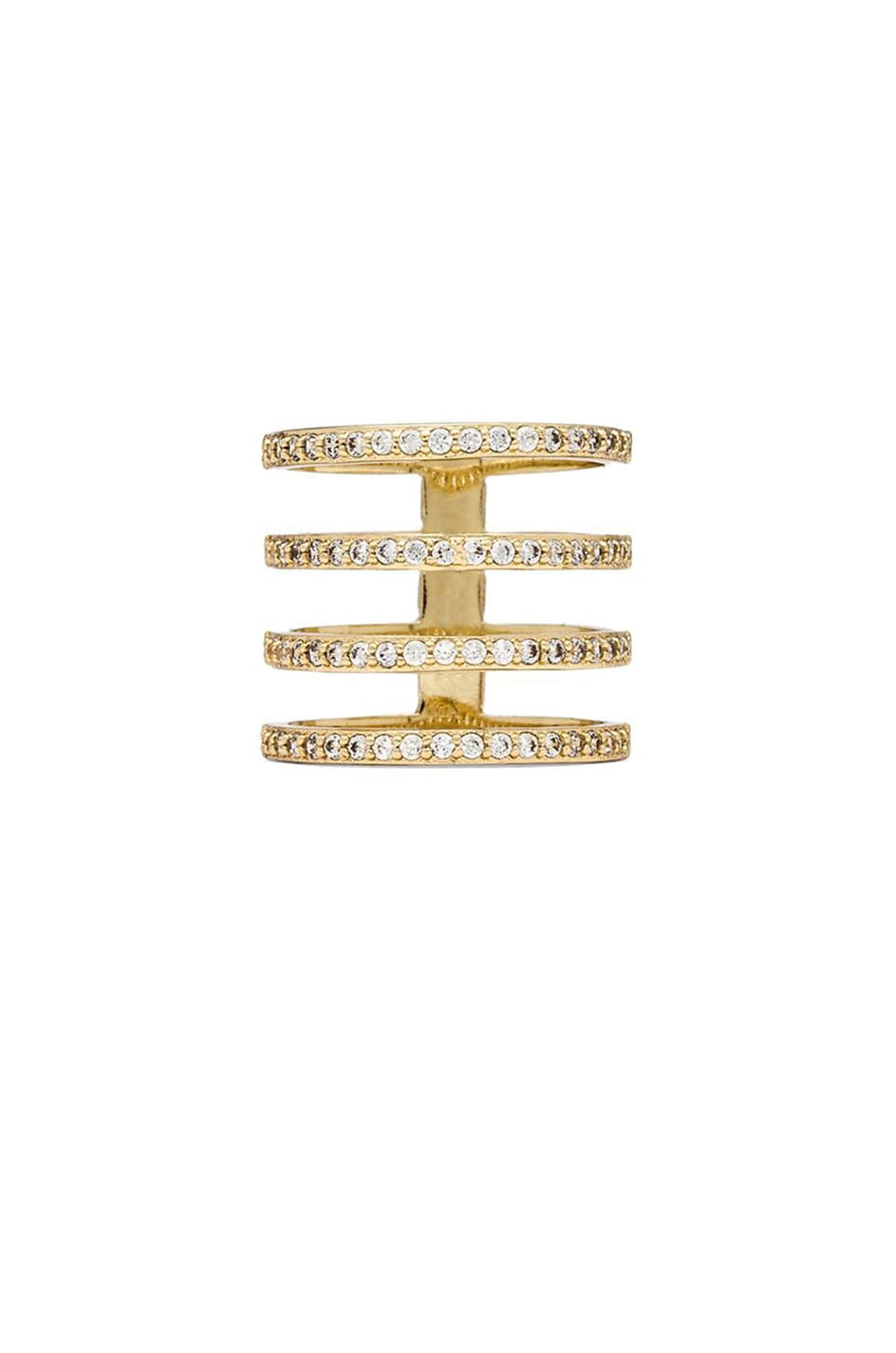 Melanie Auld Pave 4 Tier Ring in Gold