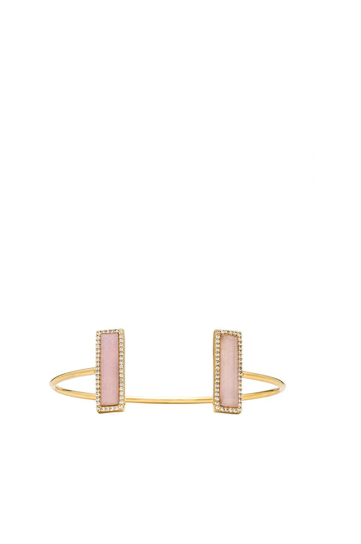 Melanie Auld Pave Bar Cuff in Pink Opal