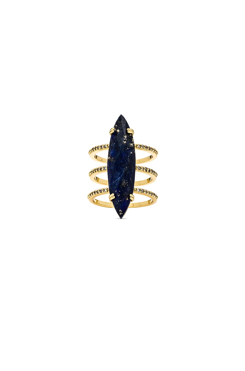Melanie Auld Pave Triple Band Ring in Lapis
