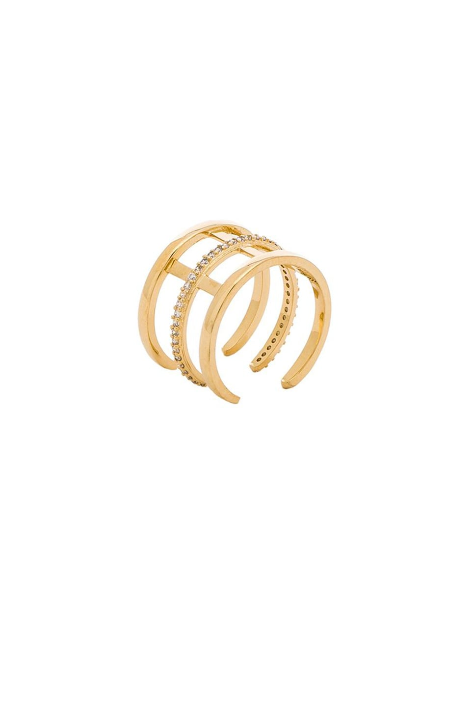 Melanie Auld Pave Cage Ring in Gold