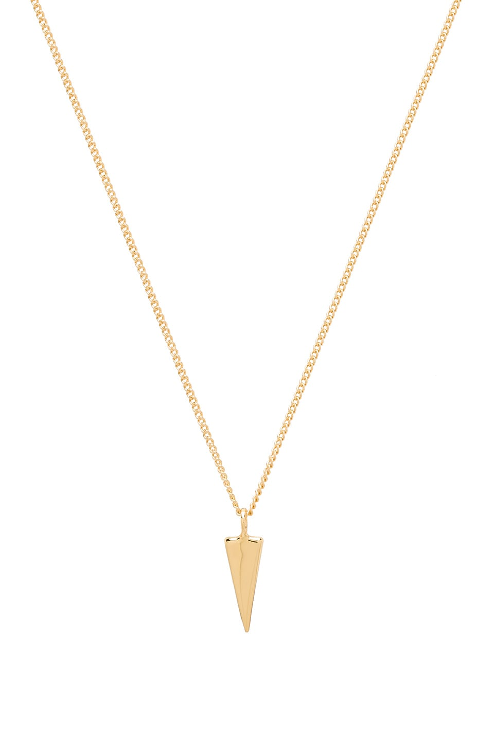 Melanie Auld Single Triangle Necklace in Gold