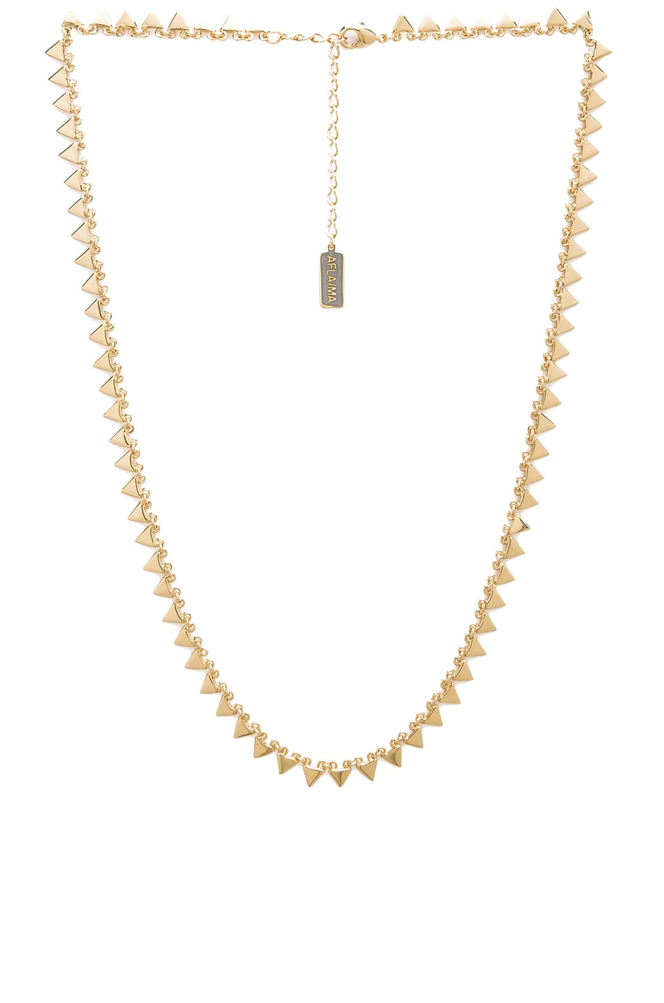 Melanie Auld Multi Triangle Necklace in Gold