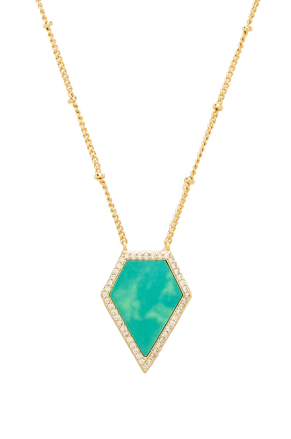 Melanie Auld Pentagon Necklace in Turquoise