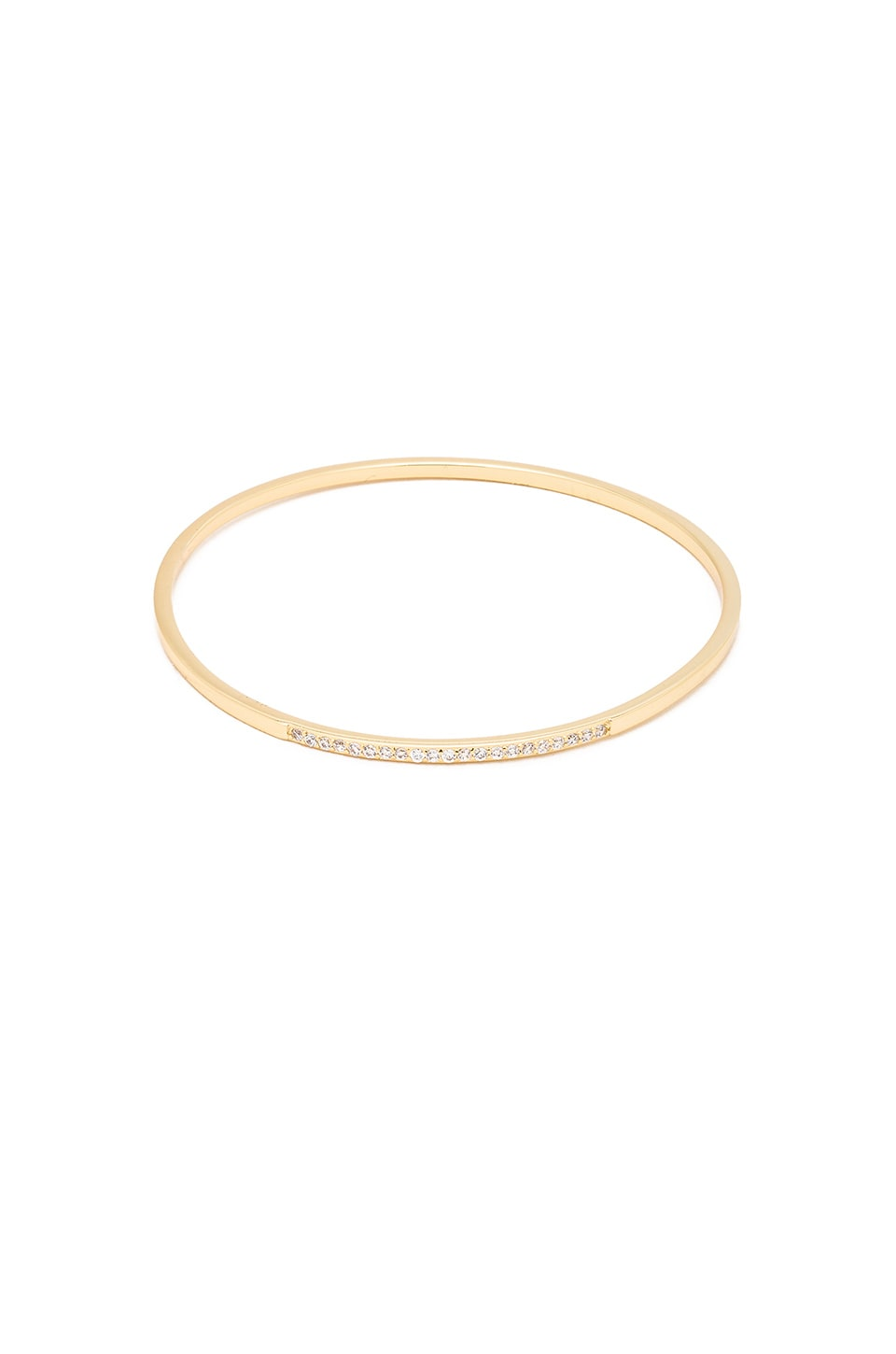 Melanie Auld Pave Bangle in Gold & Clear