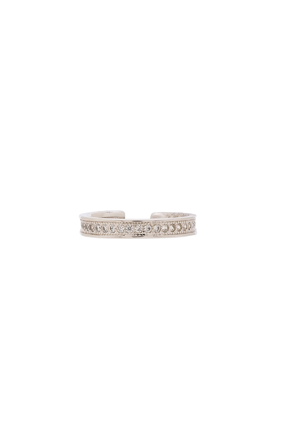 Melanie Auld Pave Midi Ring in Silver