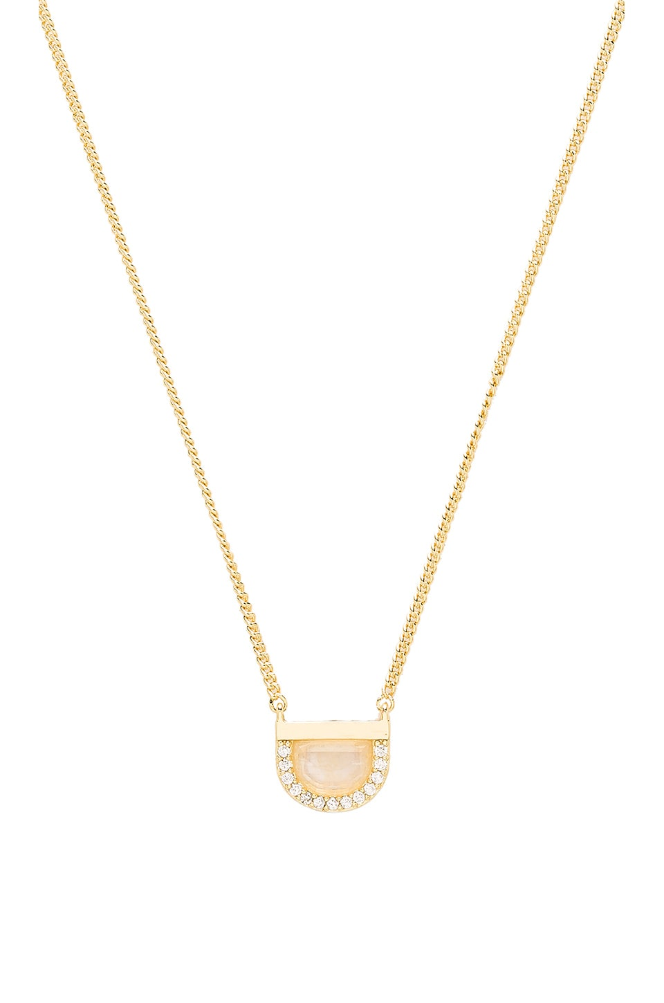 Melanie Auld Half Circle Necklace in Moonstone