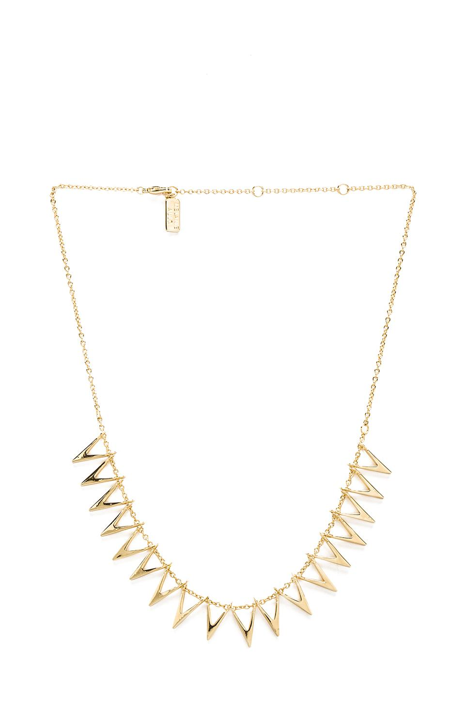 Melanie Auld Triangle Silhouette Collar Necklace in Gold