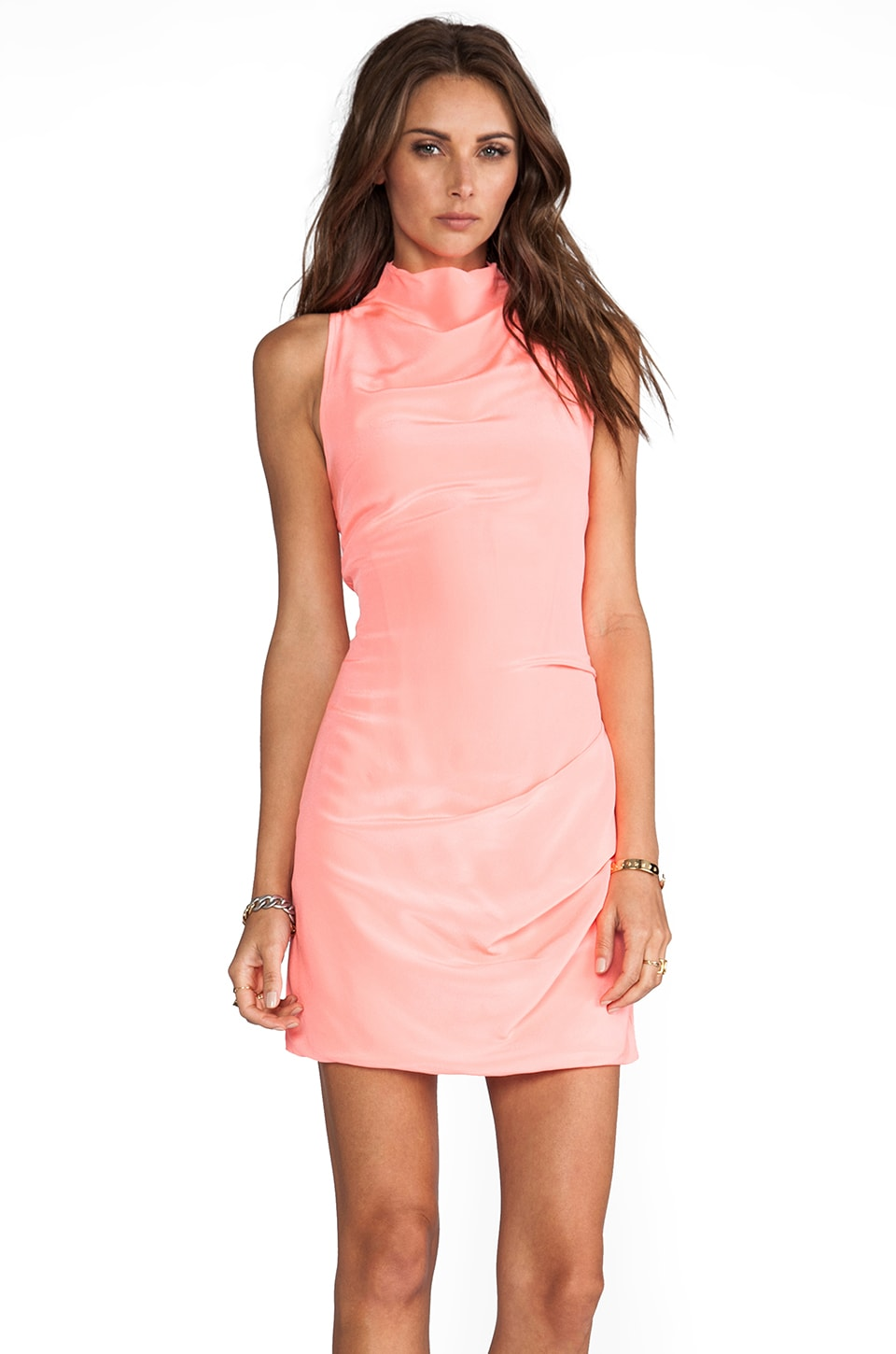 Maurie & Eve Breathless Dress in Neon Watermelon