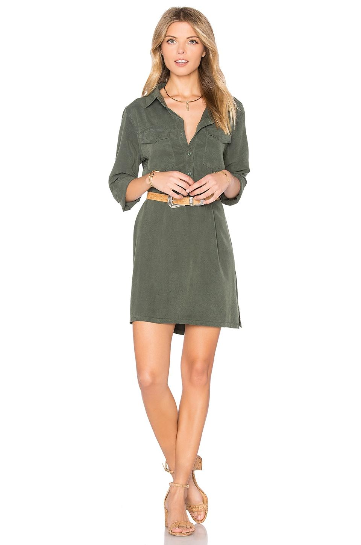 maven west Roxy Cargo Dress in Olive