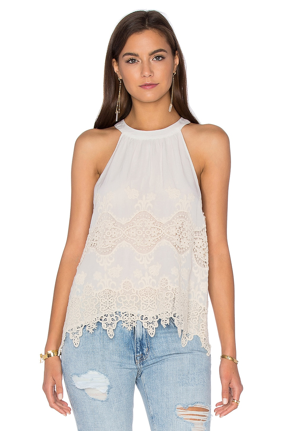 maven west Halter Cami in Bone