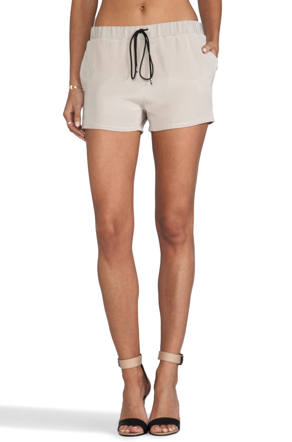 MAX FOWLES Silk Shorts in Blush