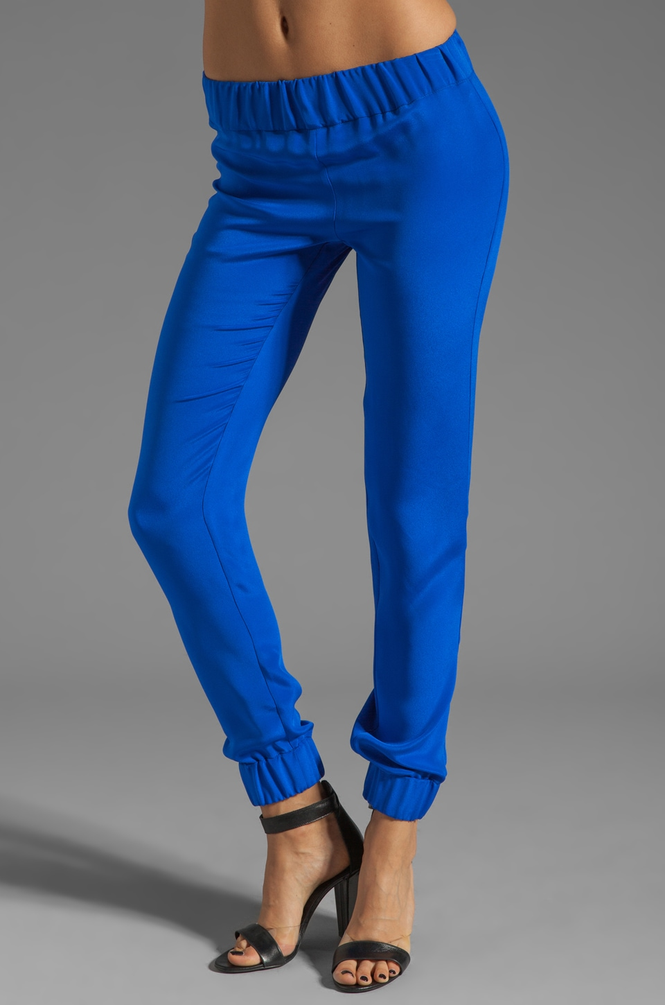 MAX FOWLES Tapered Pants in Blue