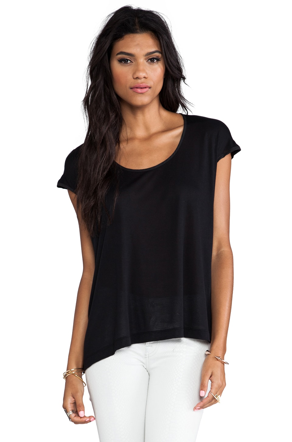 MAX FOWLES Basic Top in Black