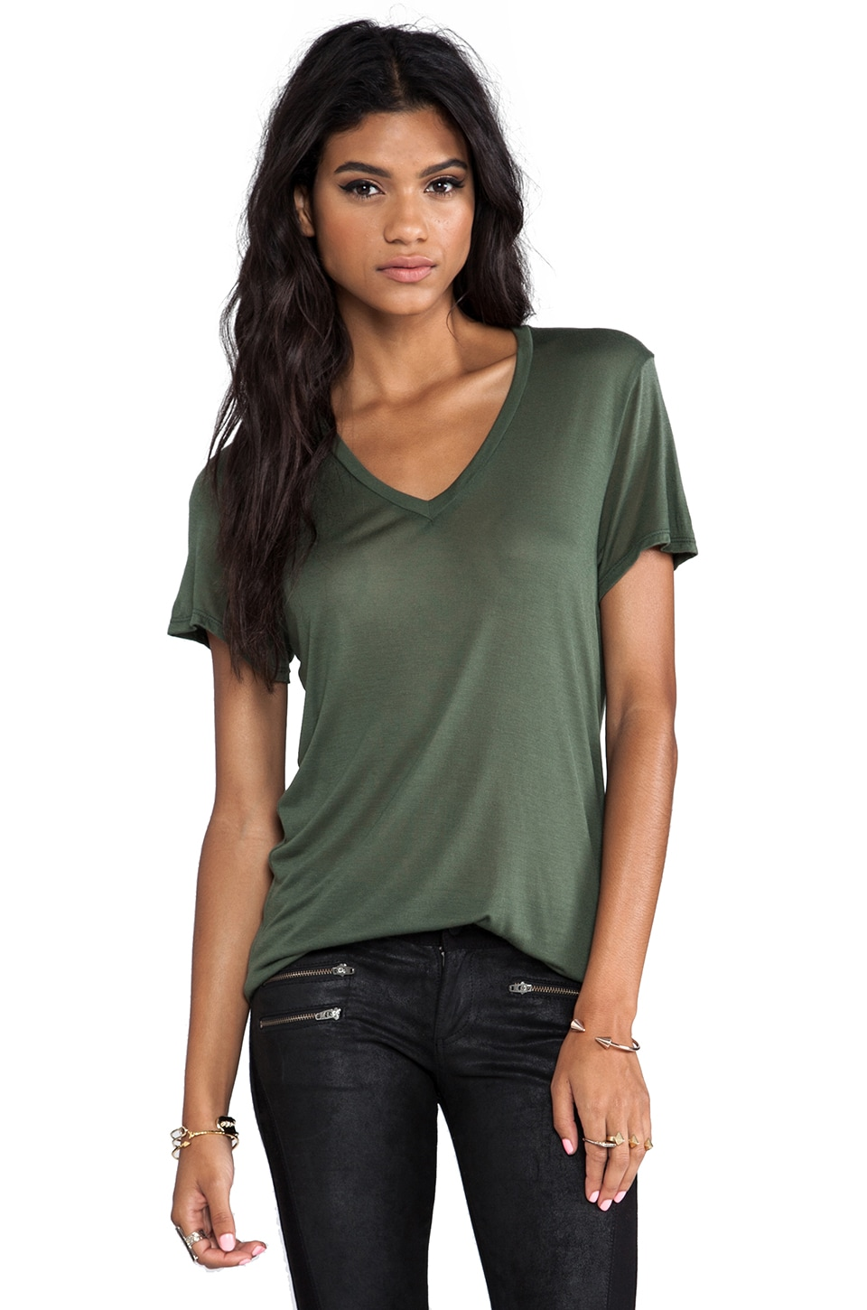 MAX FOWLES Basic Tee in Green
