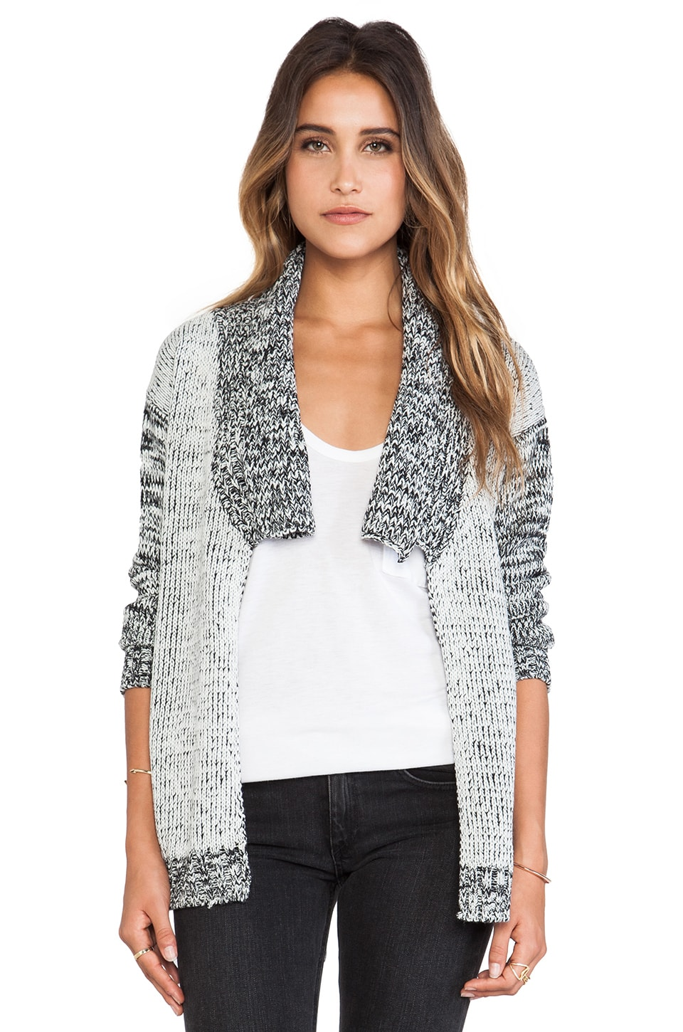 May. Spectator Cardigan in Black & White Mix