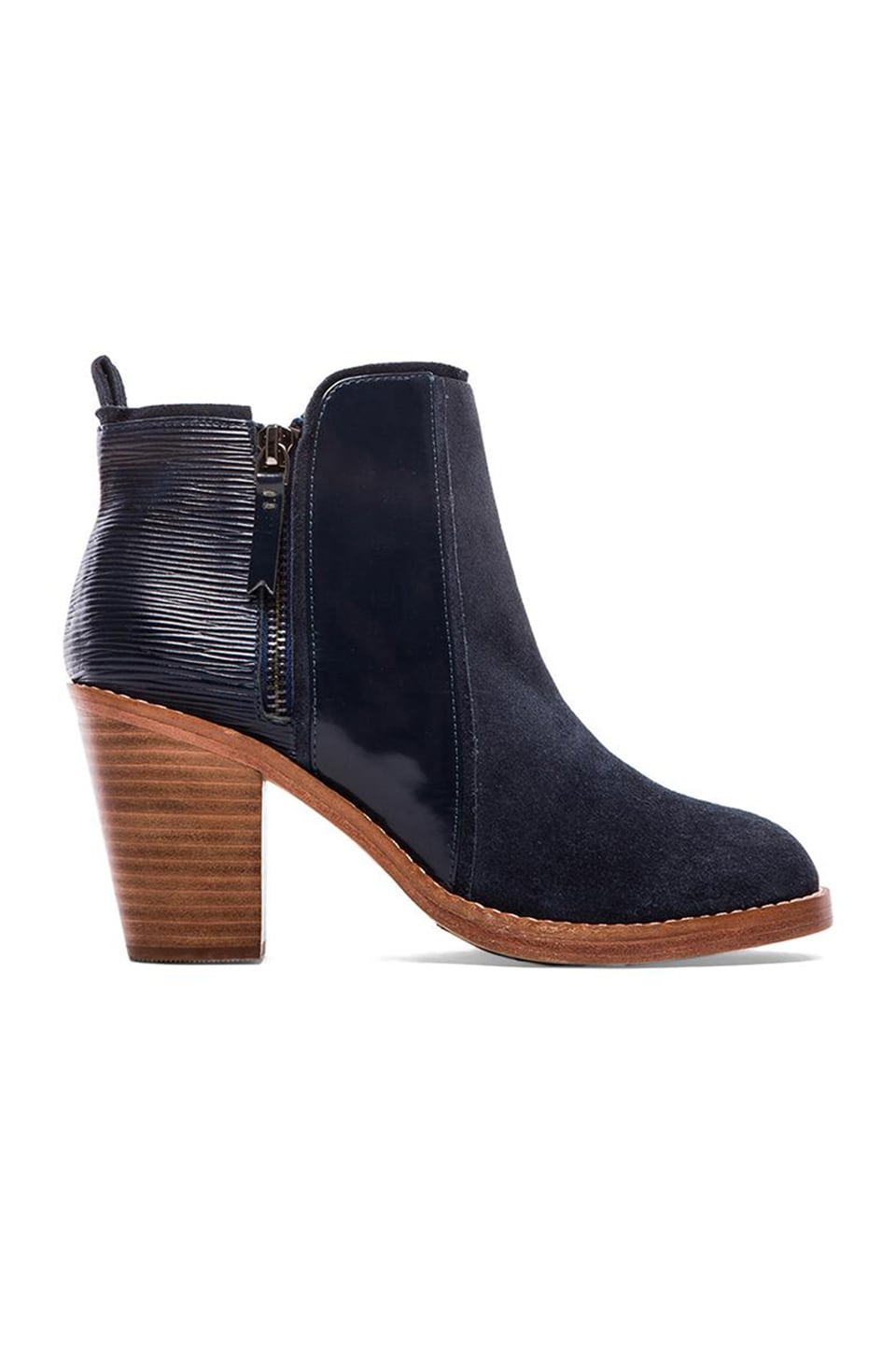 Matt Bernson Holt Bootie in Navy Birch