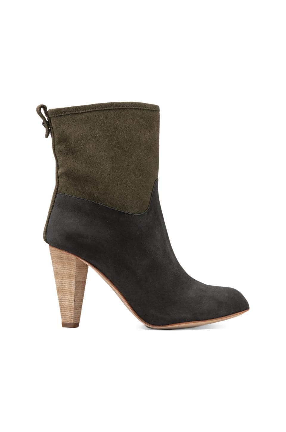 Matt Bernson Jameson Bootie in Nero/Moss